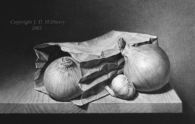 Classical Still Life - Onions and Garlic